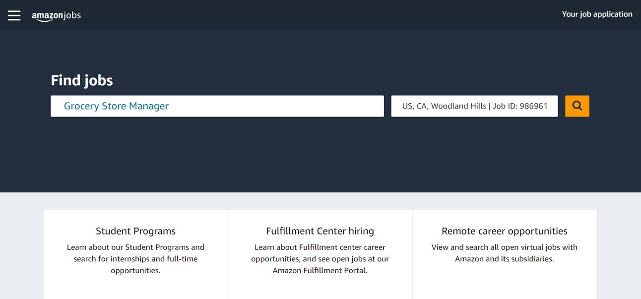 Amazon recherche manager de magasin : ce que révèlent les offres d'emploi d'Amazon sur son futur Supermarché.