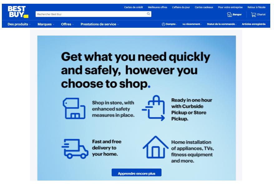 Bestbuy va transformer 250 magasins en Hub de services pour sa transition permanente vers les achats en ligne.