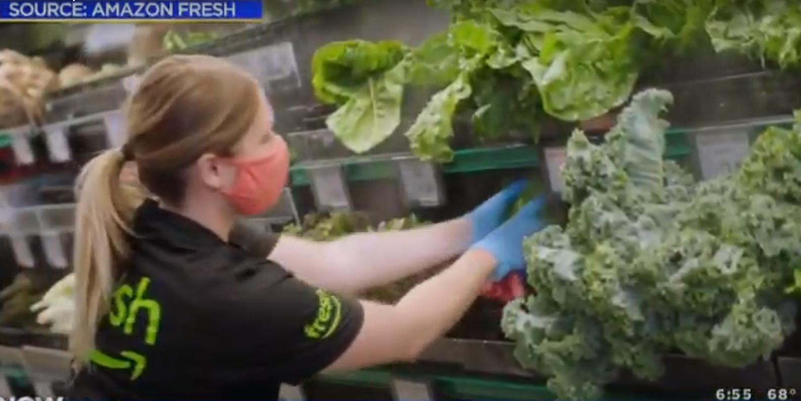 La première épicerie hybride Amazon Fresh Grocery Store est en test public à Los Angeles : présentation officielle.