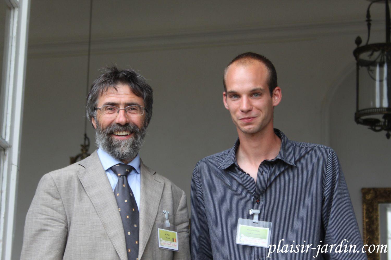 Pierre en compagnie de Rudy Velle des rosiers Lens.
