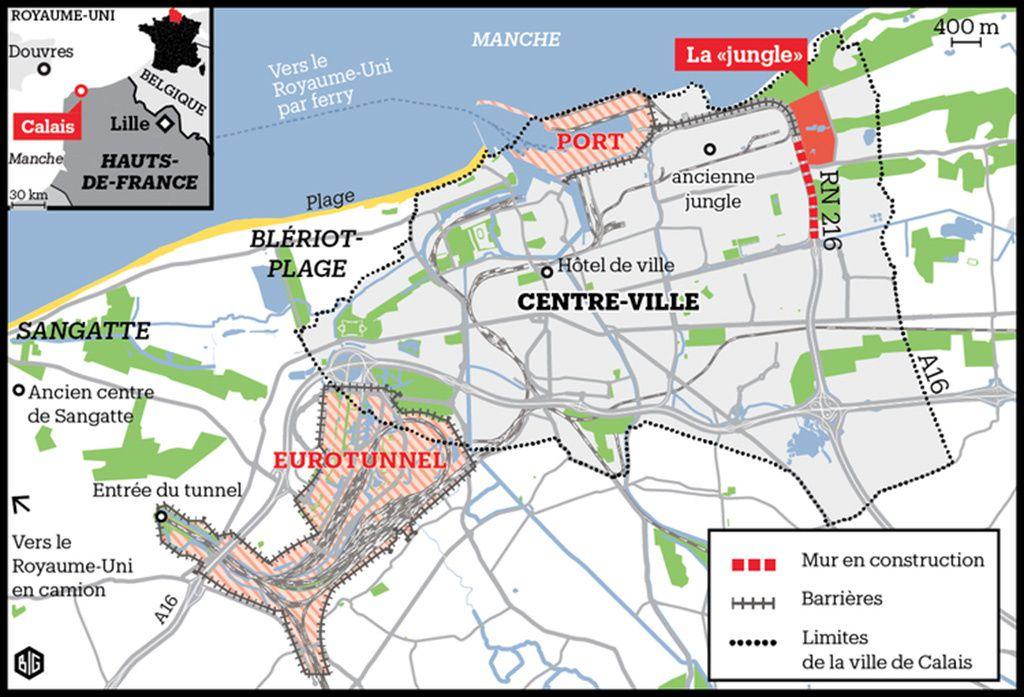 Calais et la jungle