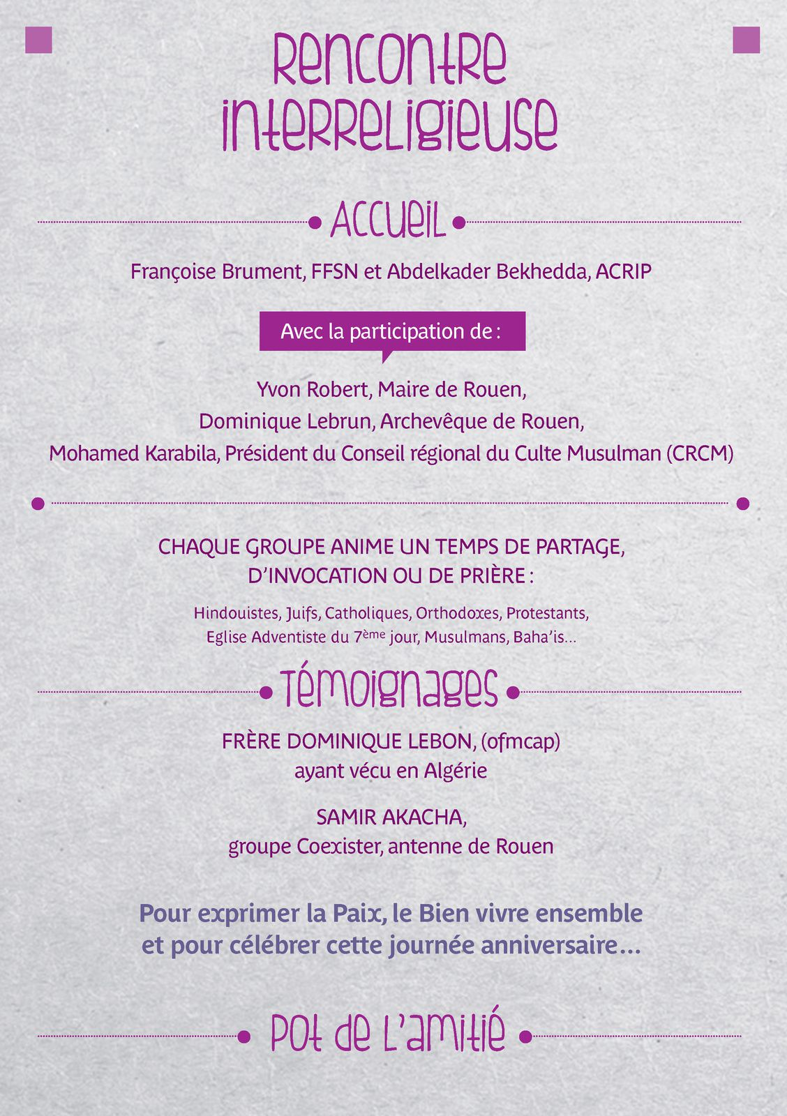 Dimanche 13 novembre à Rouen : L'Esprit d'Assise