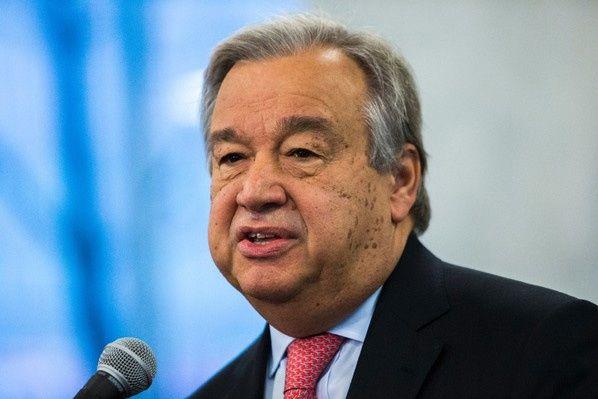 Le secrétaire général de l'ONU Antonio Guterres à New York, le 3 janvier 2017 / AFP/Archives