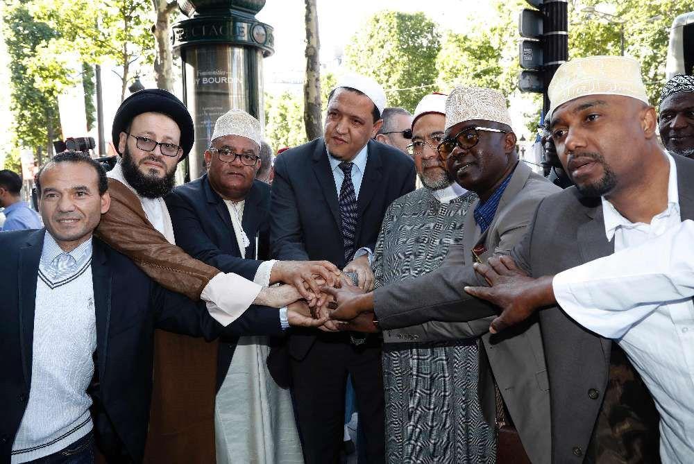 Des imams étaient venus de plusieurs régions de France, mais aussi d'autres pays d'Europe Crédit photo : François Guillot (AFP)