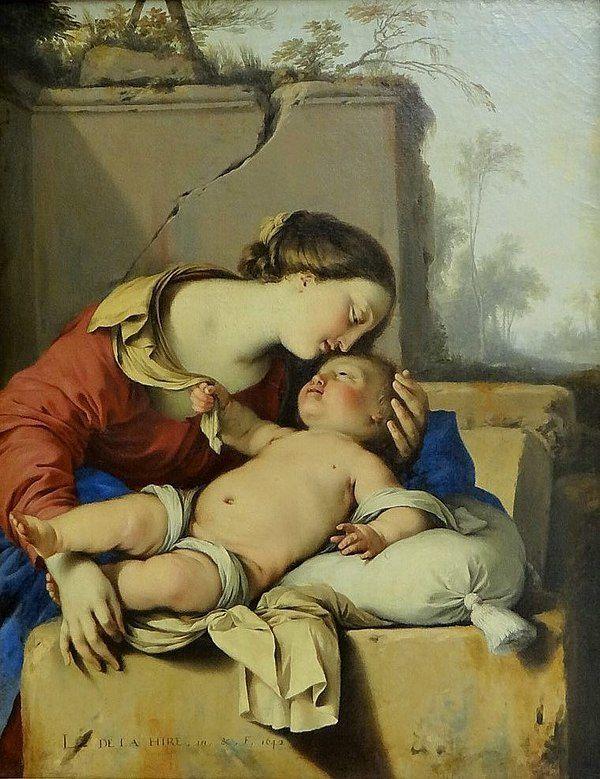 La Vierge à l'Enfant, Laurent de la Hyre, 1642, Musée du Louvre