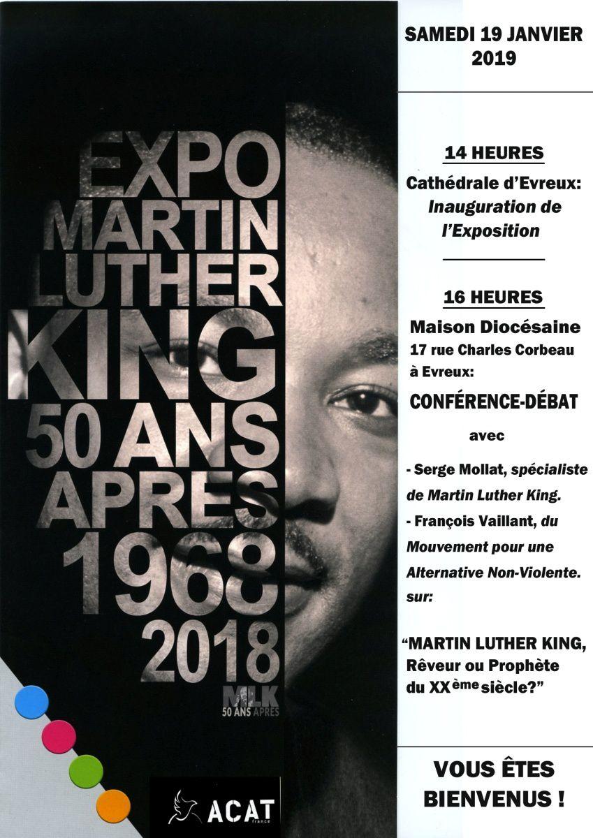 Conférence « Martin Luther King » à Evreux le 19 janvier