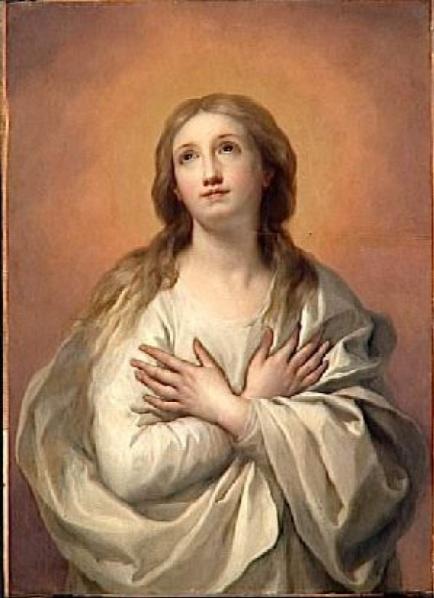 « L'Immaculée Conception » XVIIème siècle MENGS (Anton Raphaël) 1728-1779,