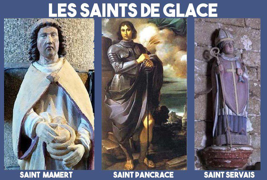 Les Saints de glace : 11, 12 et 13 mai