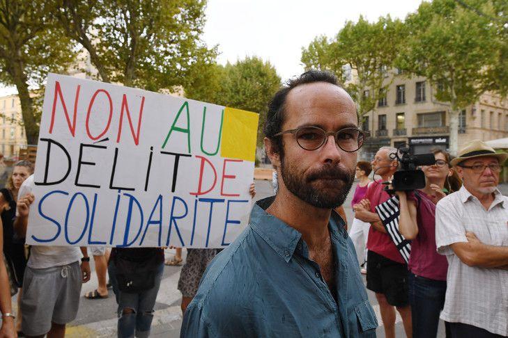 Cedric Herrou, le 8 août 2017 à Aix-en-Provence / AFP/Archives