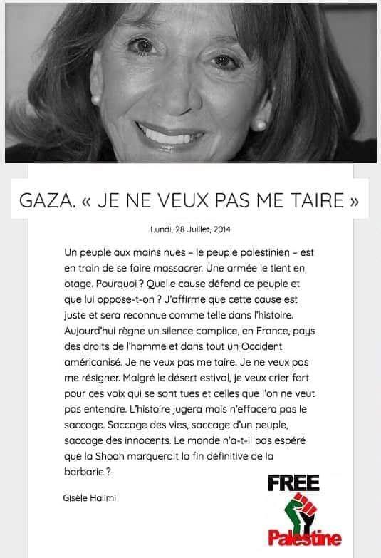 Hommage à Gisèle Halimi