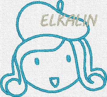 Têtes de filles 1...broderies machine ELKALIN  !