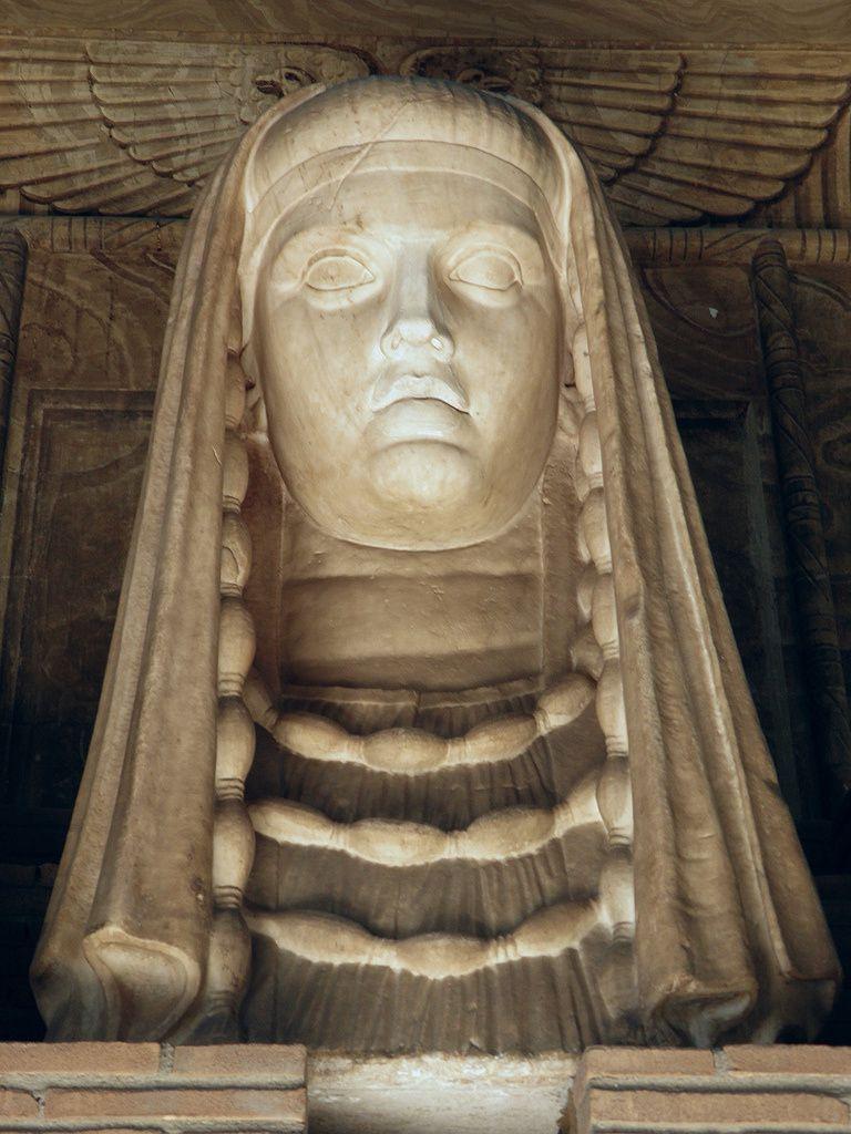 La déesse Isis-Demeter, buste en marbre trouvé à la Villa d'Hadrien, Tibur (Tivoli), près de Rome. Exposée au Musée du Vatican, Rome, Italie.