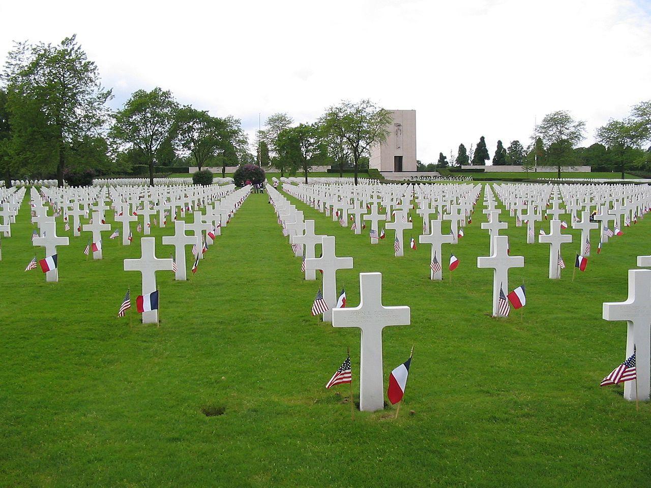 Cimetière américain de Romagne-sous-Montfaucon, Lorraine, France. 14246 Américains ayant combattu pendant la Première Guerre mondiale y sont enterrés.
