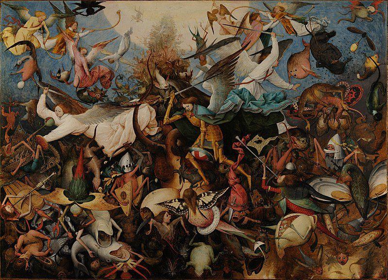 Peter Brueghel l'Ancien (1525-1562), La Chute des anges rebelles (1562), Musée Royal des Beaux-Arts de Belgique, Bruxelles.