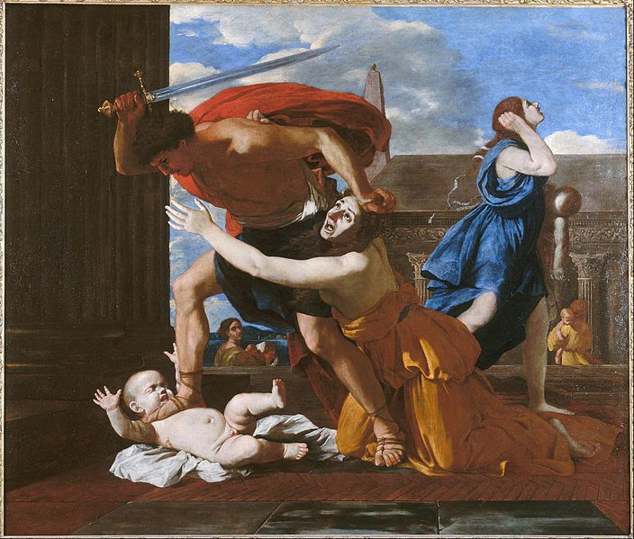 Le Massacre des Innocents (1625-1635), Nicolas Poussin (1594-1665), Musée Condée, Chantilly, France.