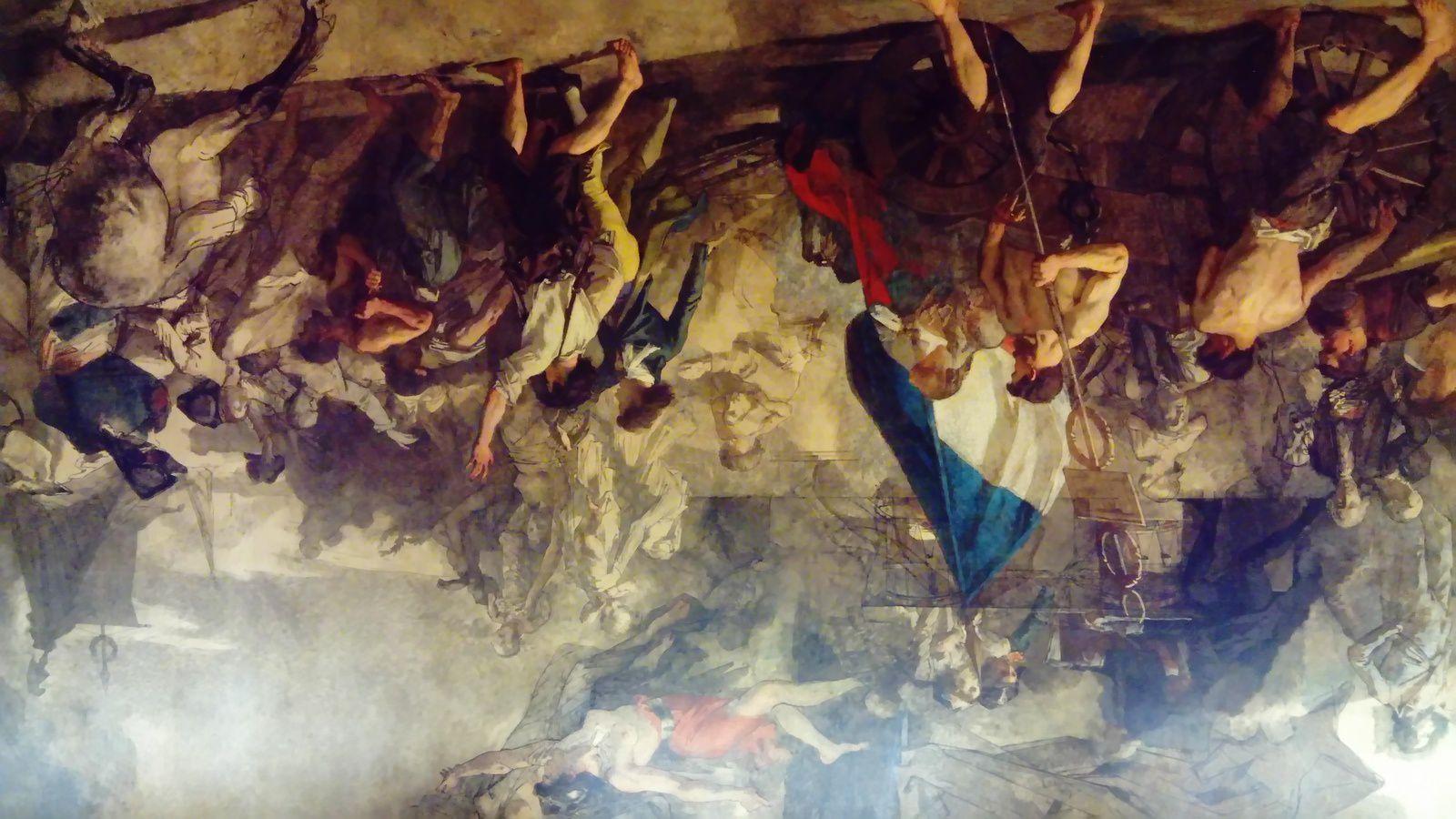«L'enrôlement des volontairesde 1792» (1848, huile sur toile,  480 x 915, MUDO, Beauvais) de Thomas Couture ((1815-1879)