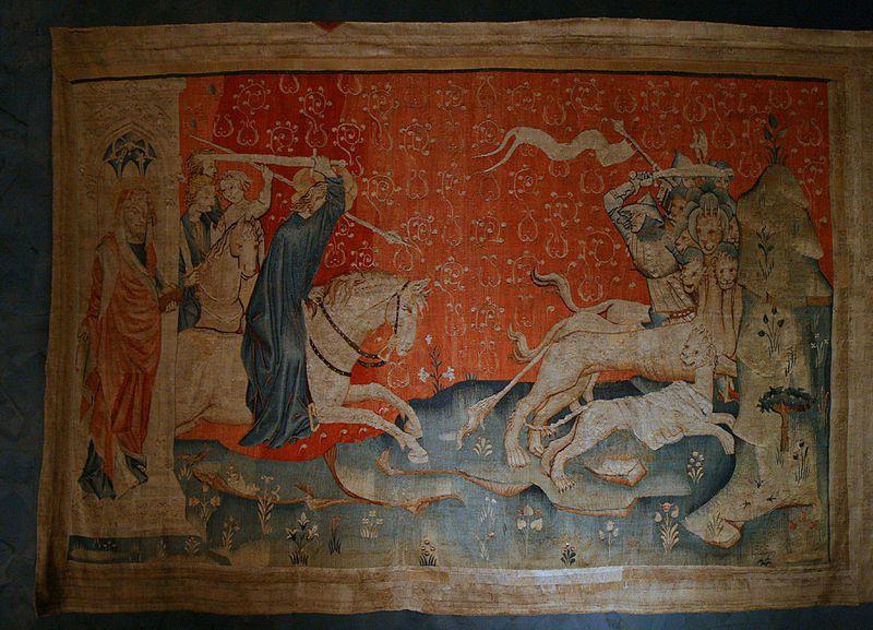 La tenture de l'Apocalypse (ou les tapisseries de l'Apocalypse, ou encore l'Apocalypse d'Angers) est une représentation de l'Apocalypse de Jean réalisée à la fin du XIVe siècle sur commande du duc Louis Ier d'Anjou. Cette œuvre est le plus important ensemble de tapisseries médiévales subsistant au monde. L'ensemble, composé de six pièces successives découpées chacune en quatorze tableaux, est exécuté d'après des cartons de Hennequin de Bruges et témoigne du prestige de son commanditaire. La tenture est léguée à la cathédrale d'Angers au XVe siècle par le roi René.