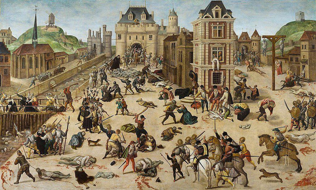 Le Massacre de la Saint-Barthélemy de François Dubois, musée cantonal des Beaux-Arts de Lausanne. François Dubois est un peintre français protestant, né à Amiens en 1529 et mort à Genève le 24 août 1584.  Il est surtout connu pour son tableau, Le Massacre de la Saint-Barthélemy, peint probablement trois ans après le massacre de 1572.