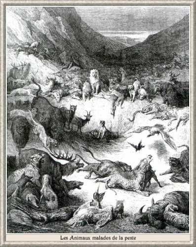 Les Animaux malades de la peste, illustration de Gustave Doré (1868)