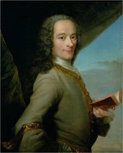 Maurice Quentin de La Tour, portrait de Voltaire à 41 ans. 1737. Musée Antoine Lécuyer, Saint-Quentin, Aisne, France.