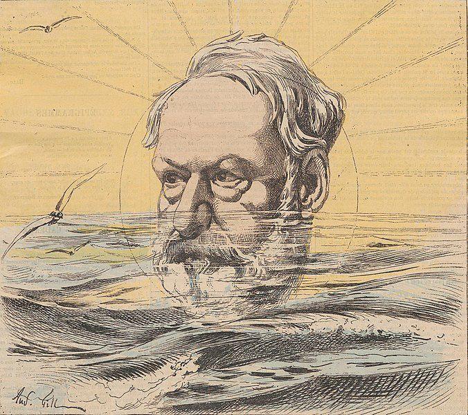 André Gill (1840-1885) Victor Hugo en exil, 19 mai 1867, publié en une du journal La Lune.