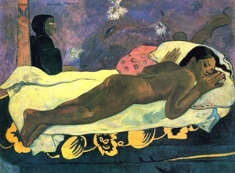 Paul Gauguin, L'Esprit des morts veille, huile sur toile, 1892, Galerie d'art Albright-Knox, Buffalo, Etat de New-York, USA.