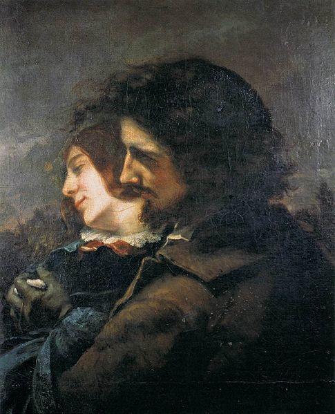 Gustave Courbet (1819-1877), Les Amants heureux, 1844, huile sur toile, 77x60, Musée des Beaux-Arts de Lyon, France.