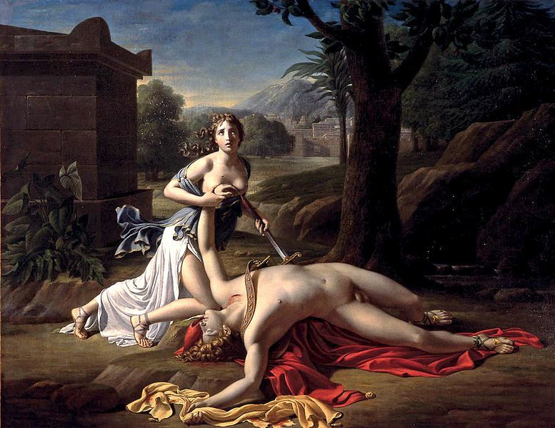 Pyrame et Thisbé, 1799. Pierre-Claude Gautherot dit Claude Gautherot est un peintre et sculpteur français, né en 1769 à Paris ; mort dans la même ville en juillet 1825. Élève de Jacques-Louis David.