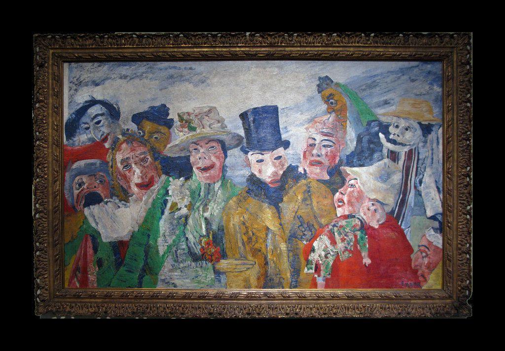 James Ensor, L'intrigue, 1890, Musée des Beaux-Arts à Anvers, Belgique.