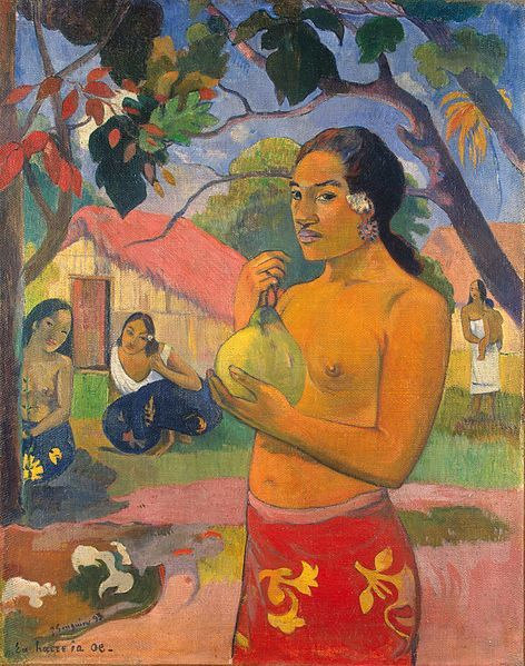 Paul Gauguin,  Ea haere ia oe (A haere ia oe), Où vas-tu ? II, 1892, Musée de l'Hermitage, Saint-Petersbourg, Russie.