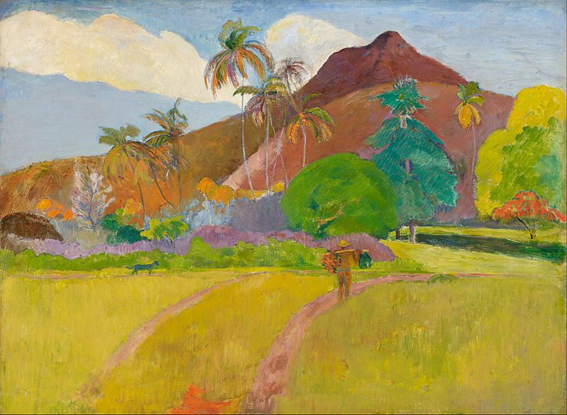 Paul Gauguin, Montagnes tahitiennes, 1891, huile sur toile, Minneapolis Institute of Art, USA.
