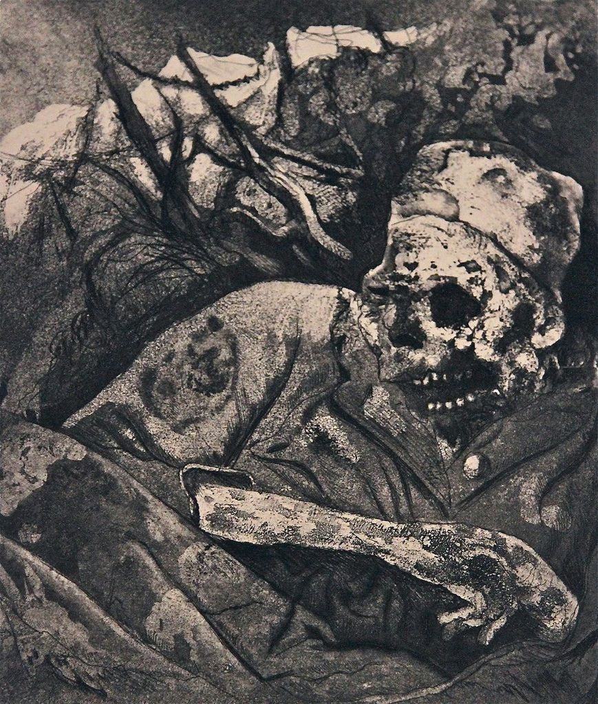 Otto Dix. Corpse in Barbed Wire (Flanders) from The War (1924)