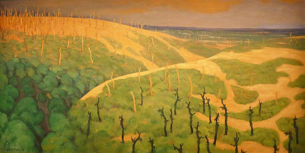 Félix Vallotton, Le Bois de la Gruerie et le ravin des Meurissons (1917), Nanterre, La contemporaine.