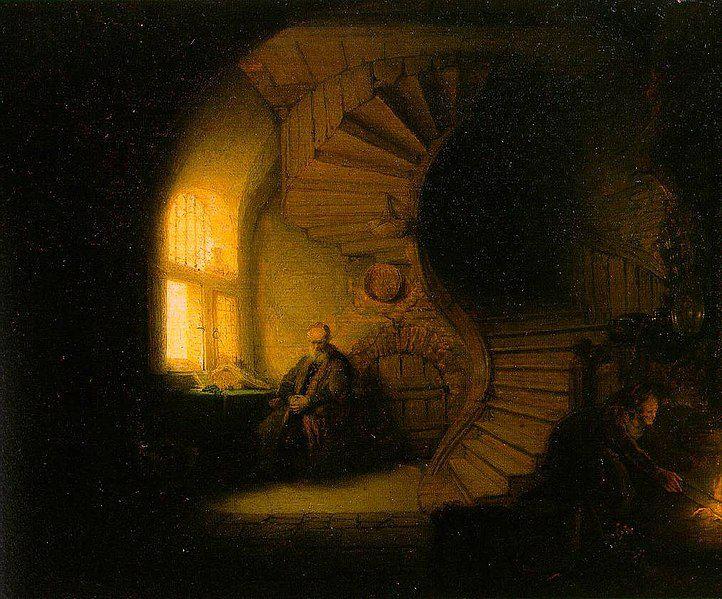 Le Philosophe en méditation est un tableau conservé au musée du Louvre peint par le maître néerlandais Rembrandt (Leyde 1606-Amsterdam 1669) et datant de 1632. Malgré l'accent mis sur le thème de la philosophie par le titre traditionnel du tableau, Philosophe en méditation, presque tous les auteurs qui y adhèrent finissent par recouper le « sujet véritable » du tableau - la cécité de Tobie - par le biais du thème de la vision comme métaphore pour l'esprit introspectif, du regard tourné vers l'intérieur.