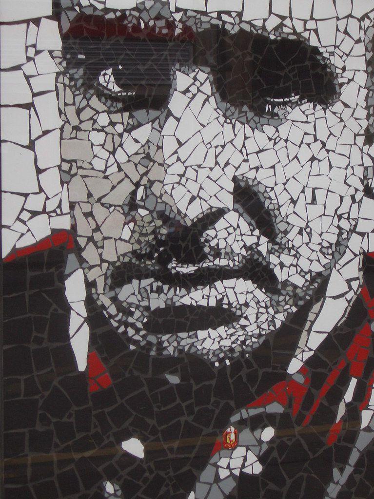 Eric Cantona, mosaïque de Mark Kennedy.