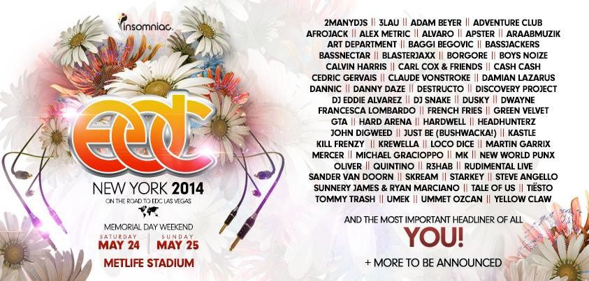Tiësto photos: Electric Daisy Carnival - New York 25 may 2014 | Set Times