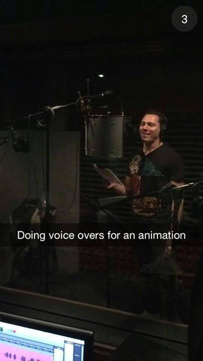 """Tiësto on Snapchat: """"doing voice overs for an animation"""""""