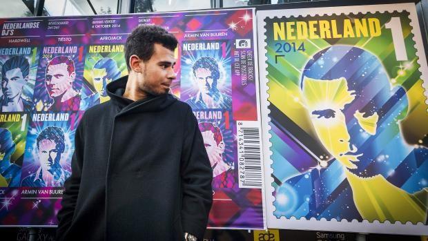 Afrojack, Armin van Buuren, Dash Berlin, Hardwell, photos de la journée lancement des timbres poste !