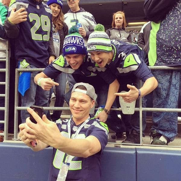 Tiësto at Seattle for the game: Seahawks vs Raiders