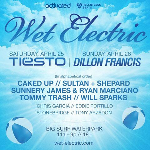 Tiësto photos | Wet Electric | Phoenix, AZ - april 25, 2015