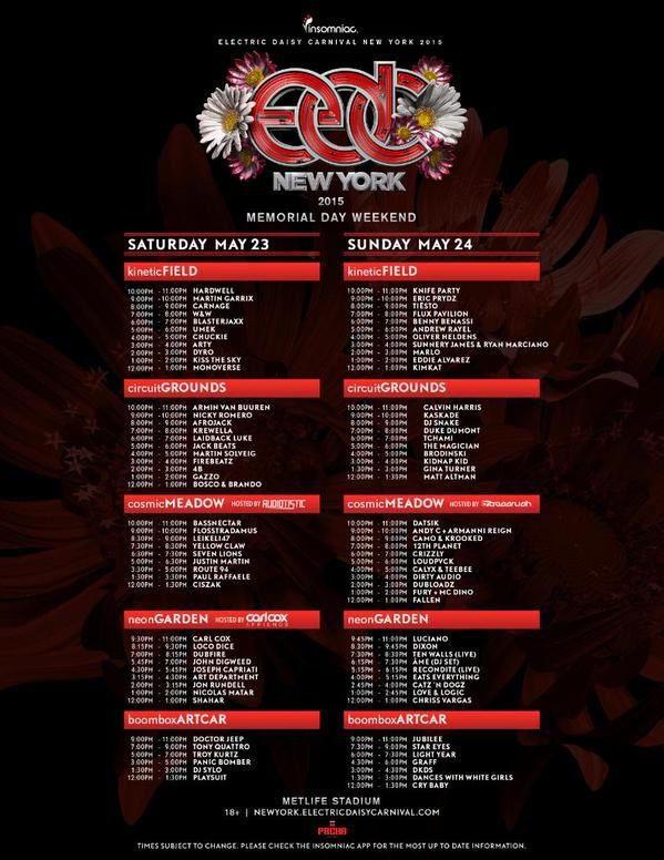 Tiësto photos | Electric Daisy Carnival NY | East Rutherford, NJ - May 24, 2015
