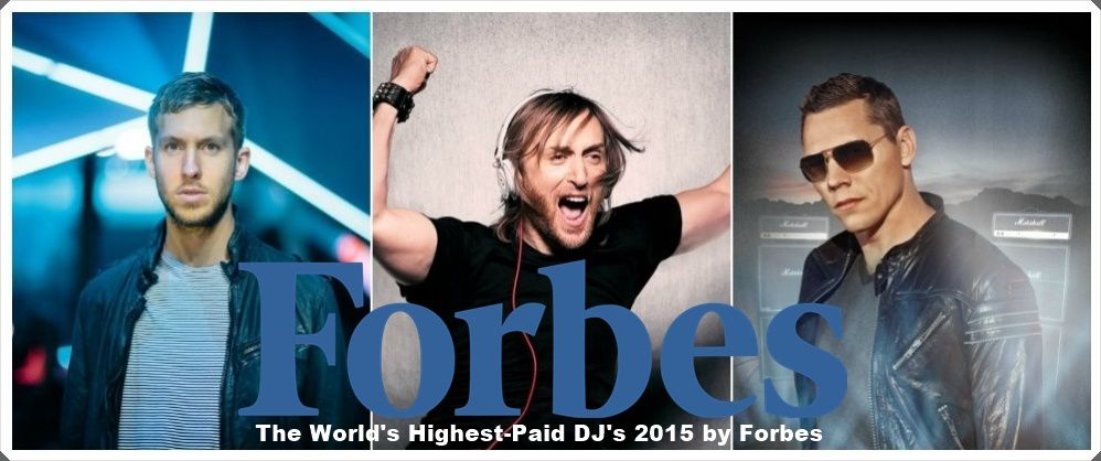 Tiësto number 3 - The World's Highest-Paid DJ's 2015 by Forbes
