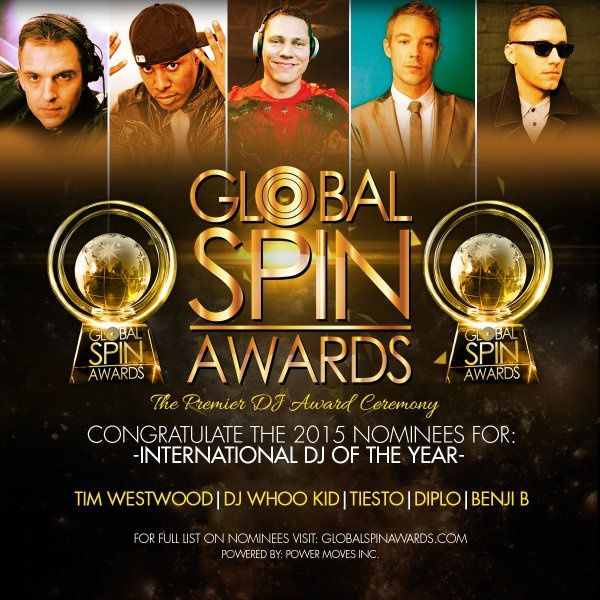 Tiësto nominated for Global Spin Awards 2015