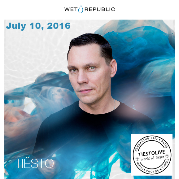 Tiësto photos | Wet Republic | Las Vegas, NV - July 10, 2016