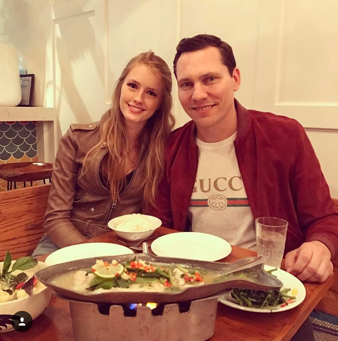 Tiësto & Annika Backes at the Fish Cheeks in New York