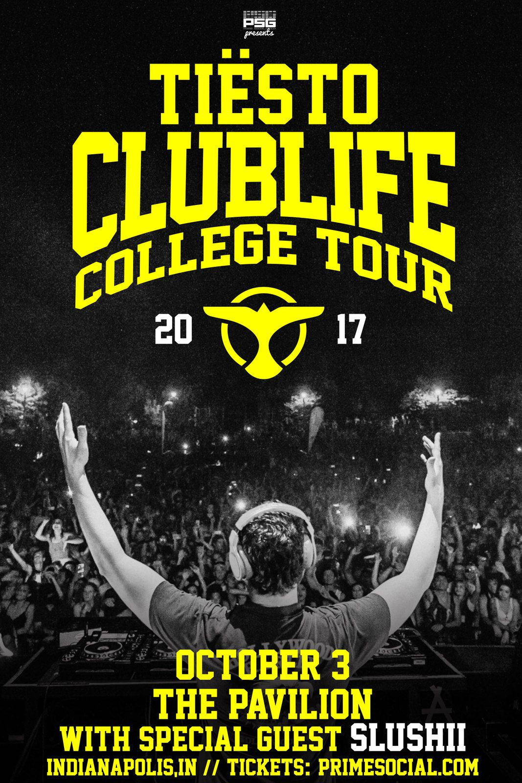 Tiësto date | Club Life College Tour | October 03, 2017 - Indianapolis, IN