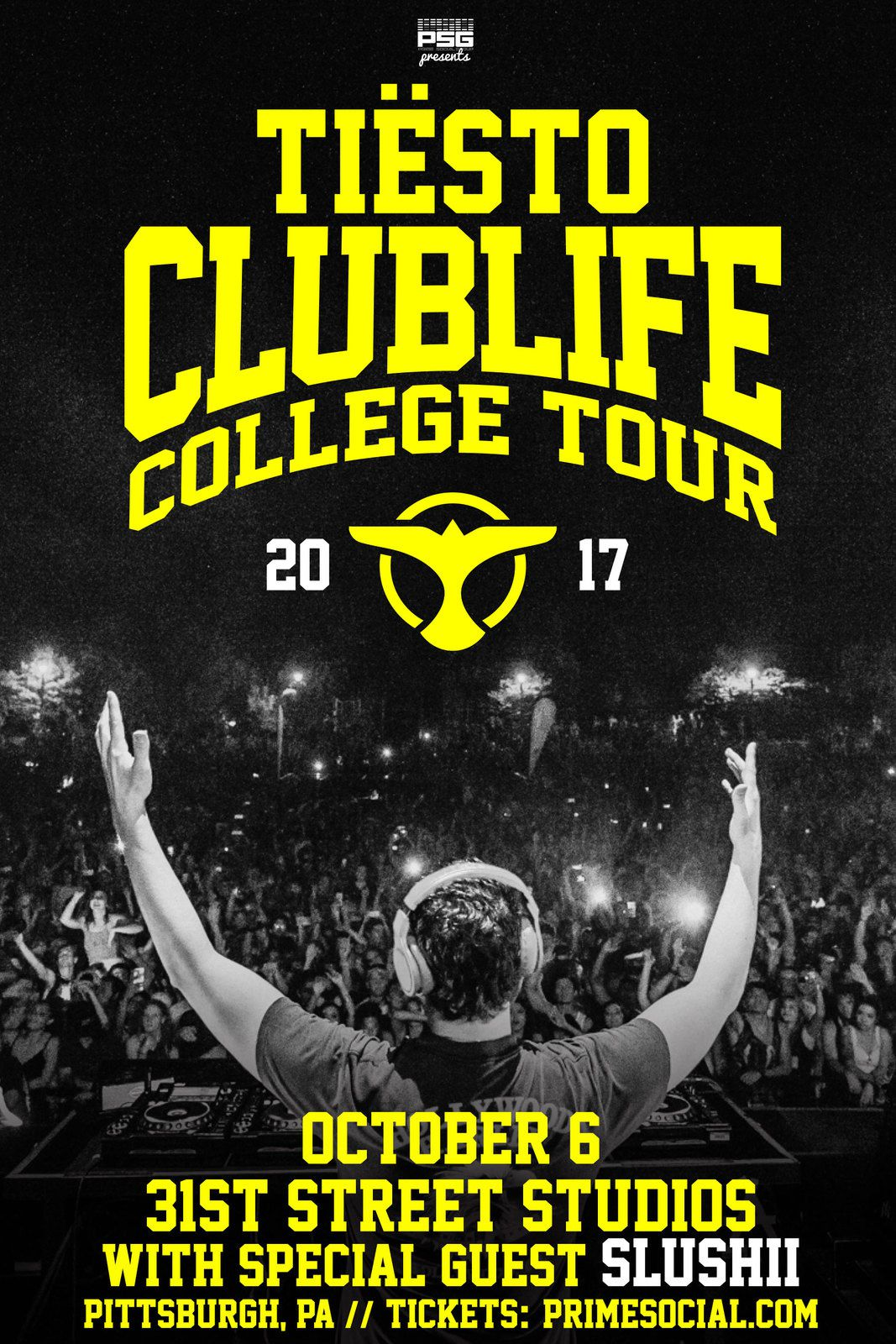 Tiësto date | Club Life College Tour | October 06, 2017 - Pittsburgh, PA