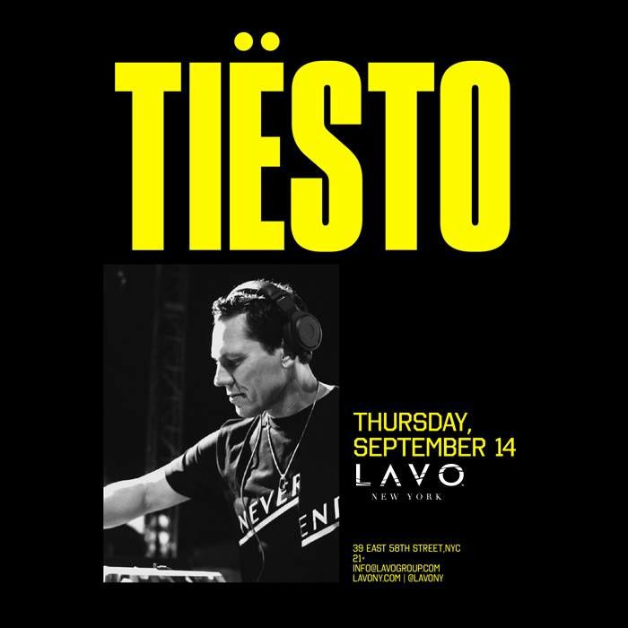 Tiësto date | Lavo | New York, NY - September 14, 2017