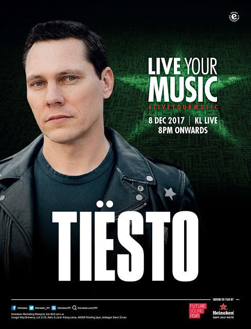 Tiësto date | KL Live | Kuala Lumpur, Malaysia - December 08, 2017