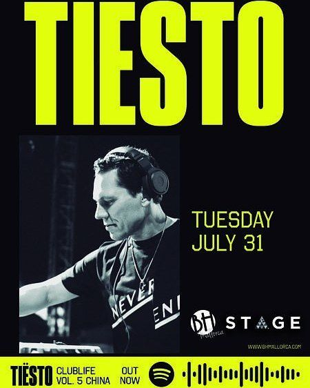 Tiësto date | BH Mallorca | Magaluf, Spain - july 31, 2018